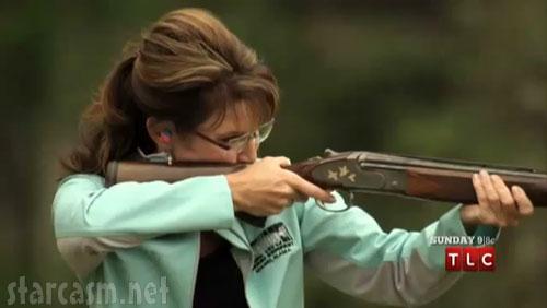 Sarah Palin skeet shooting in Alaska