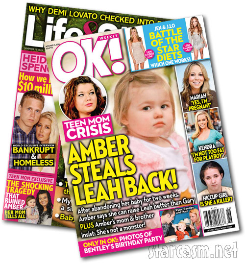 Teen Mom tabloid covers for the week of November 15, 2010