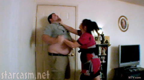 Teen Mom Amber Portwood chokes baby daddy Gary Shirley in Season One