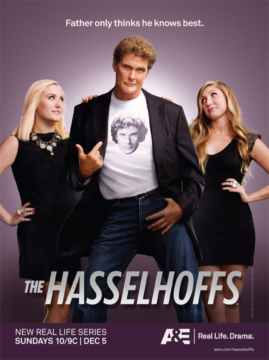 The Hasselhoffs promo poster with Hayley David and Taylor-Ann
