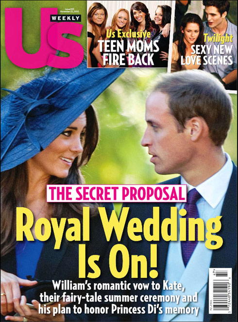 US Weekly Royal Weeding Is On! November 22 2010 cover