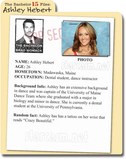 Ashley Hebert Bachelor 15 File on starcasm.net