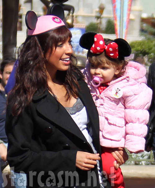 Farrah Abraham and daughter Sophia from Teen Mom in Minnie Mouse ears