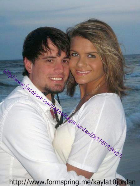 Kayla Jordan and baby daddy J.R. Davis at Panama City Beach