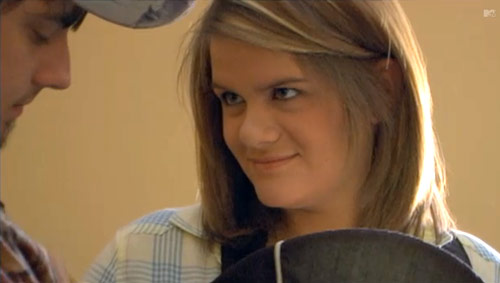 Kayla Jordan in a scene from 16 and Pregnant on MTV