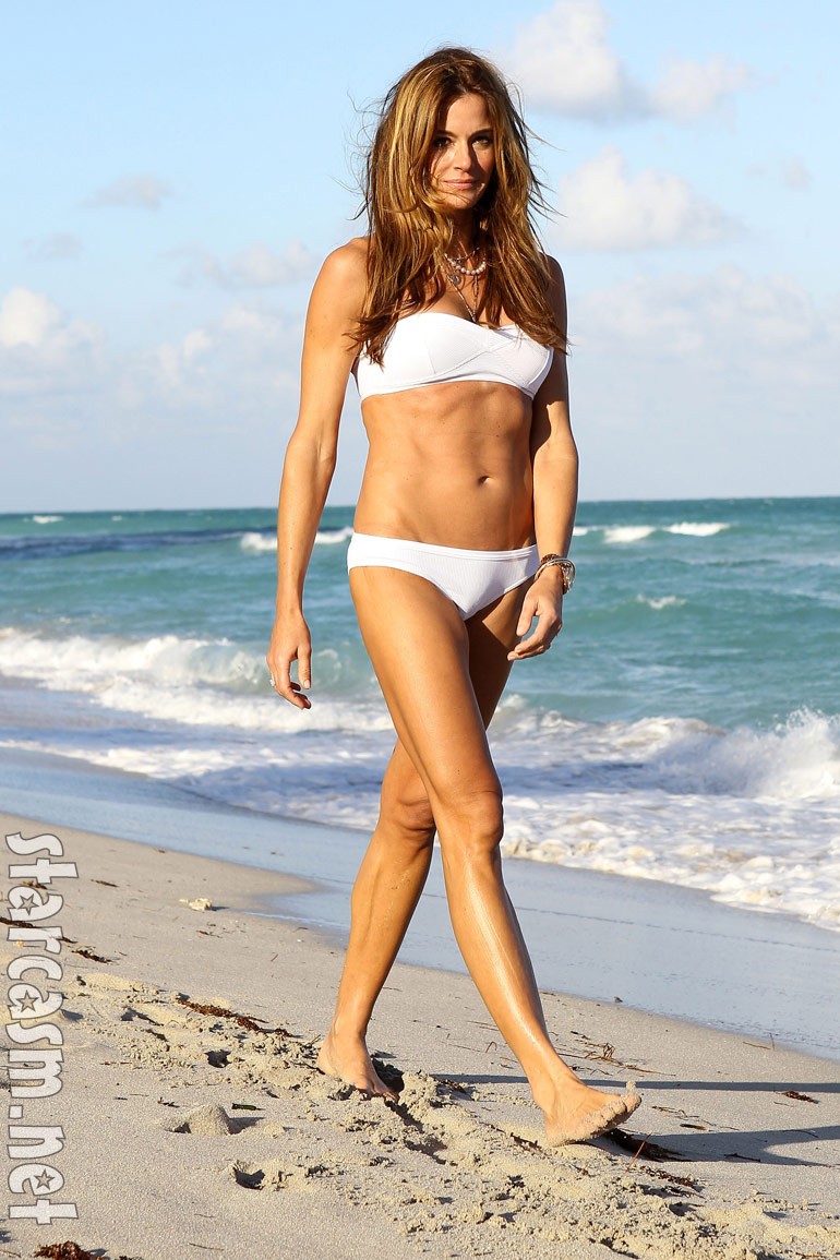 photos rhony 39 s kelly bensimon models a white bikini in miami. Black Bedroom Furniture Sets. Home Design Ideas