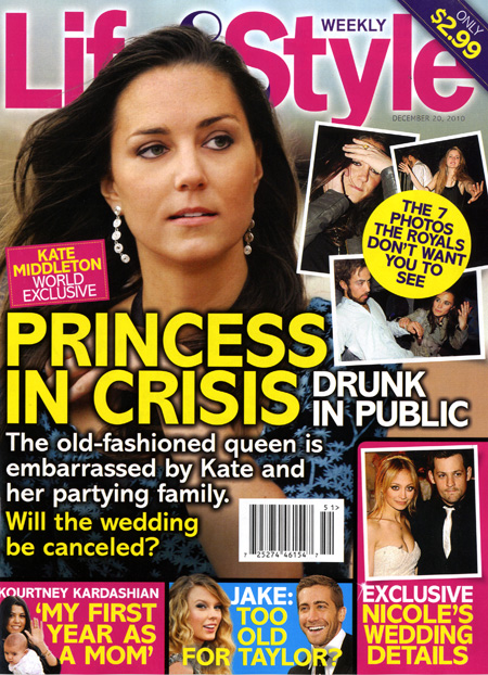 Life and Style cover with Kate Middleton Princess In Crisis