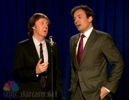 Paul McCartney performs Chicken Wings to tune of Yesterday on Late Night With Jimmy Fallon