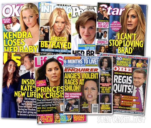 Tabloid magazine covers for the week of December 20, 2010