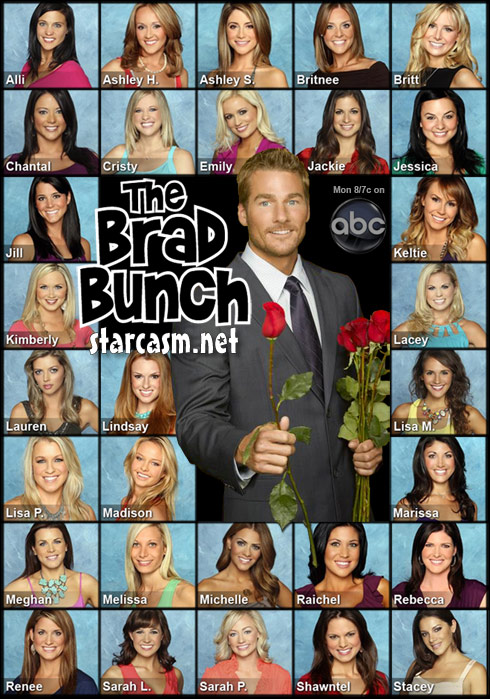 Brad Womack and all 30 of his female suitors from The Bachelor 2011
