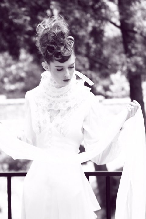 Ann Ward from ANTM models a wedding gown - from her Facebook account