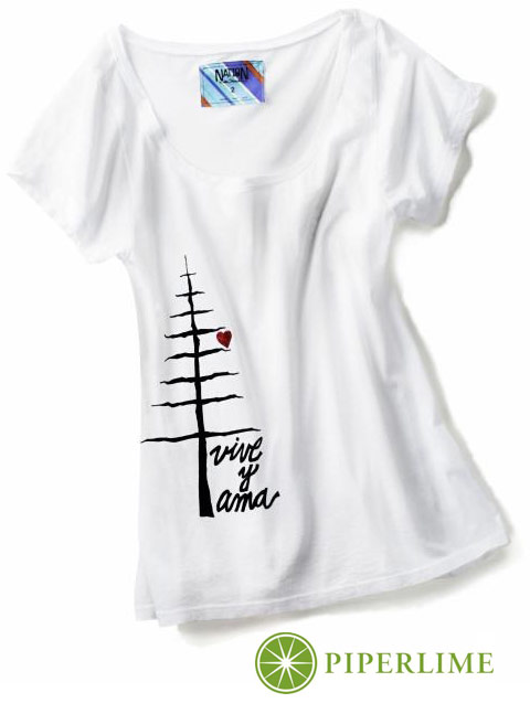 Mondo Guerra's limited edition Live and Love (vive y ama) tee shirt for Piperlime.com