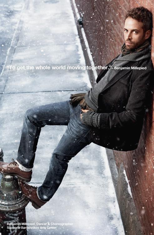 Natalie Portman's husband GAP ad