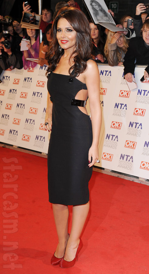 Cheryl Cole on the red carpet at the National Television Awards 2011