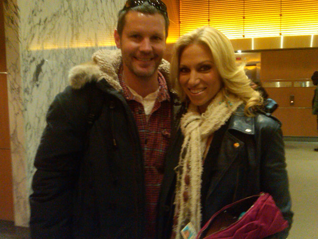 Twitter photo of Debbie Gibson with old 80's video guy