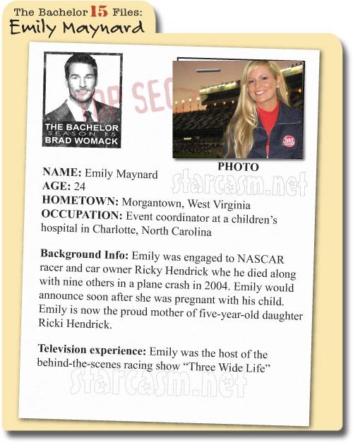 The Bachelor Season 15 File 2011 on Emily Maynard