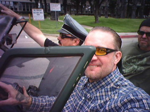 Jesse James in yet another Hitler Nazi salute photo controversy
