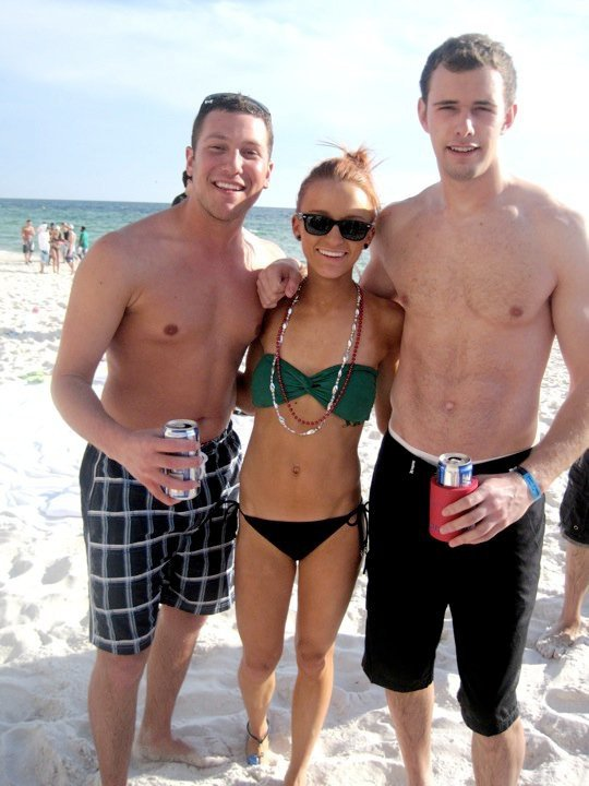 Teen Mom Maci Bookout in a tiny bikini with drinking buddies