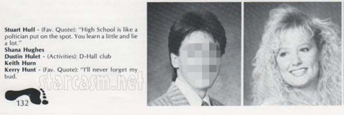 RHOBH Taylor Armstrong as Shana Hughes from her 1989 Tulsa Union High School yearbook