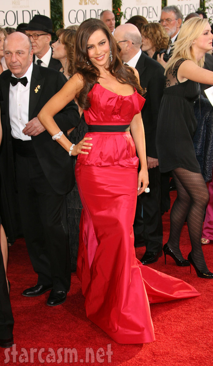 Sofia Vergara on the red carpet at the 2011 Golden Globe Awards