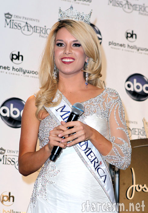 2011 Miss AMerica Teresa Scanlan after winning her crown