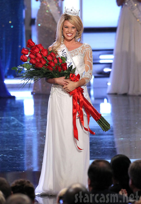 17-year-old Teresa Scanlan wins the 2011 Miss America Pageant