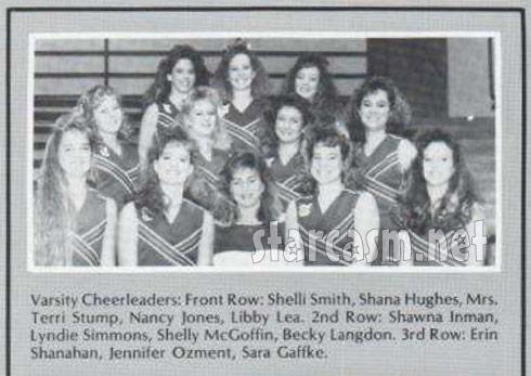 Taylor Armstrong as Shana Hughes member of 1989 Tulsa Union High School cheerleading team