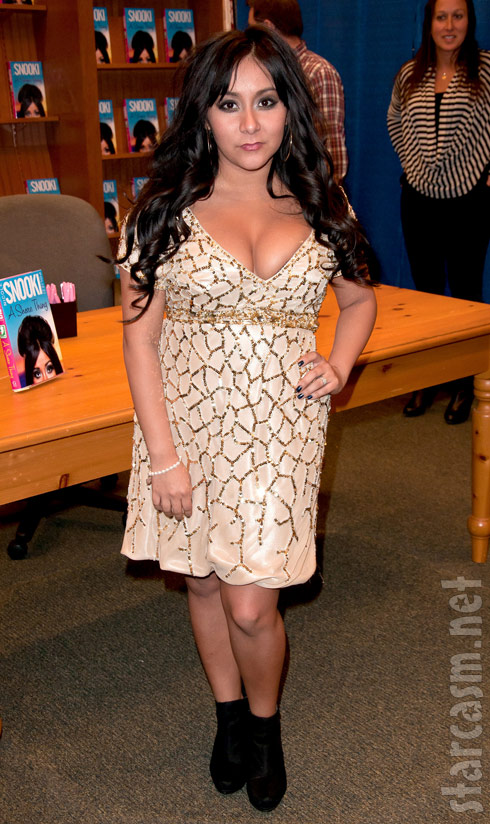 Jersey Shore's Snooki at a book signing in Brick, New Jersey January 13, 2011