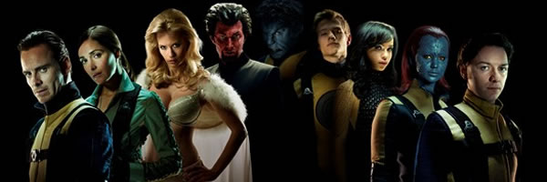 X-Men: First Class cast photo in costumes
