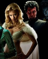 January Jones in her Emma Frost costume from X-Men: First class