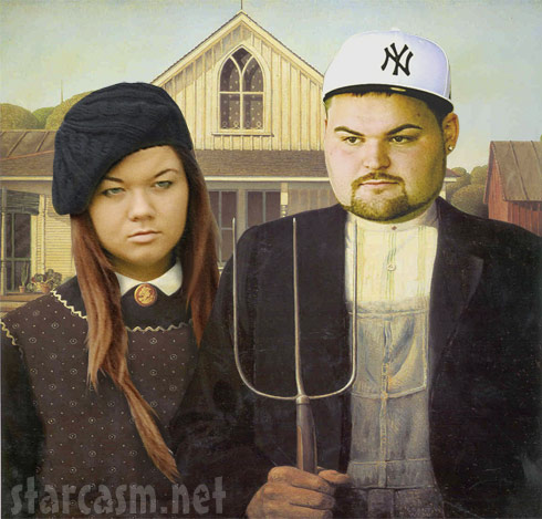 Teen Mom Amber Portwood and Gary Shirley in American Gothic