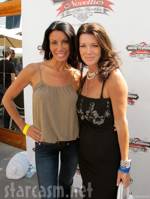Lisa Vanderpump and Danielle Staub together at a Digital Playground sex toy gifting suite