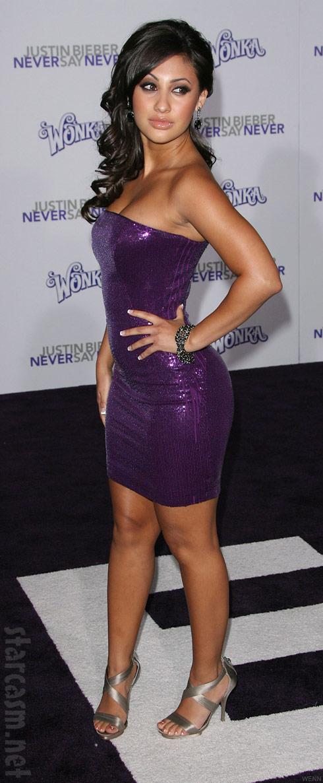 Francia Raisa at the Justin Bieber Never Say Never premiere