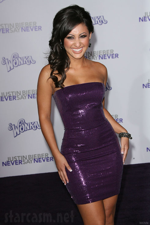 Francia Raisa from The Secret Life at the Never Say Never Premiere