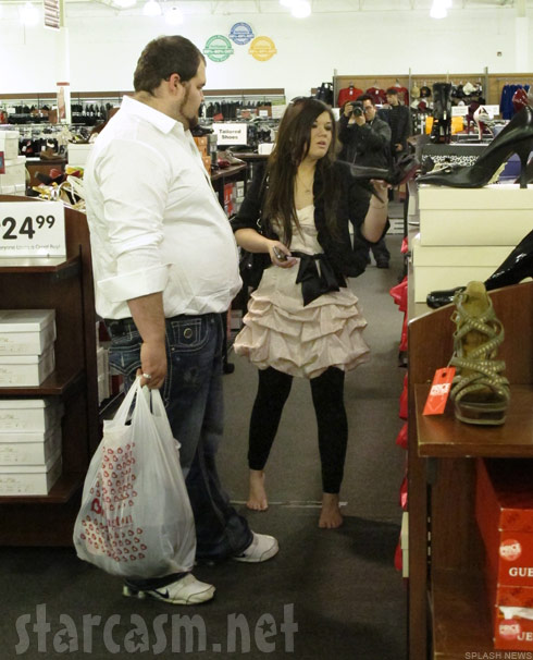 Amber Portwood and Gary Shirley buy Oscar party outfits at Burlington Coat Factory