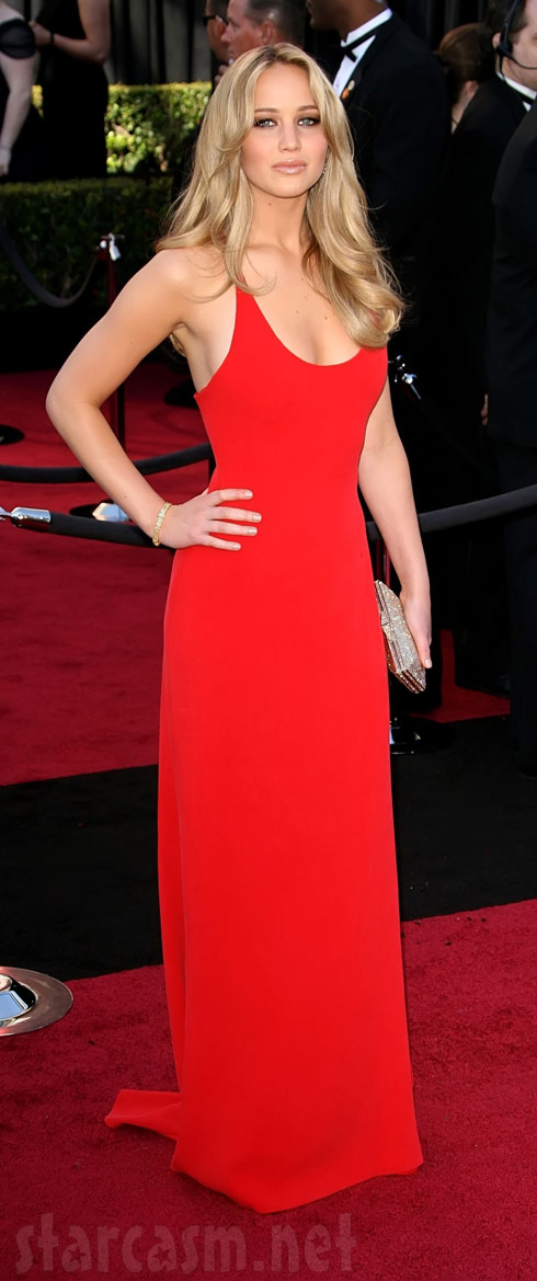 Jennifer Lawrence on the red carpet at the 83rd Academy Awards 2011 Oscars