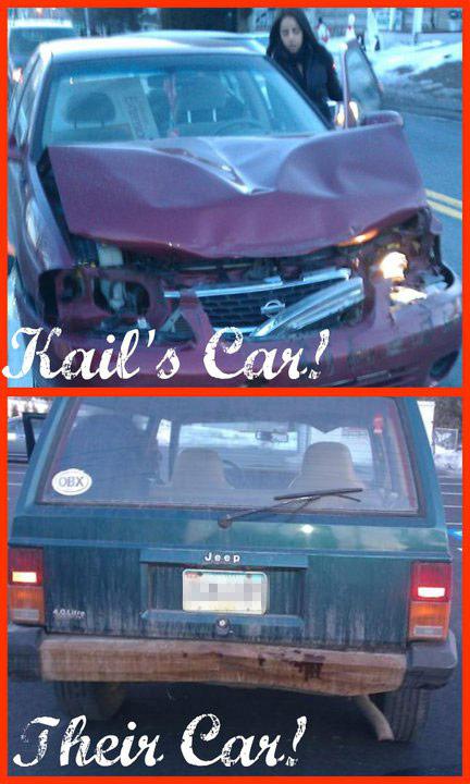 Teen Mom 2 Kailyn Lowry car wreck photo