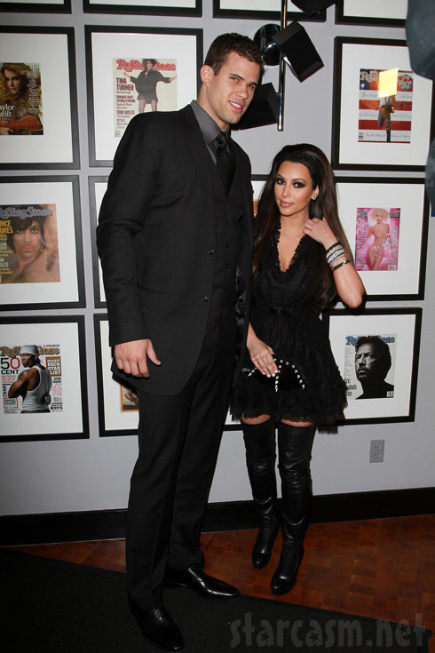 Kim Kardashian and NBA player Kris Humphries at the NBA All Star game