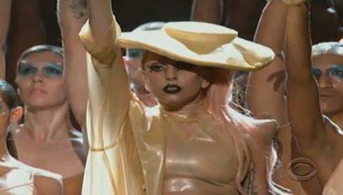 Lady Gaga Born This Way at 2011 Grammy Awards