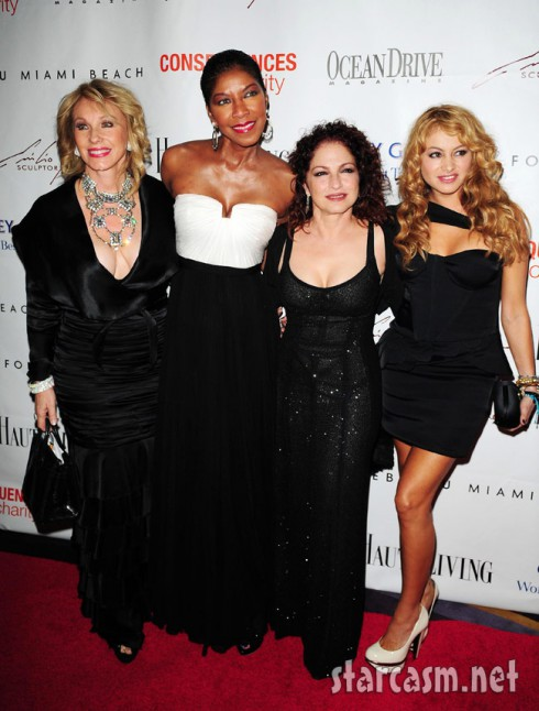 Lea Black Real Housewives of Miami with Gloria Estefan