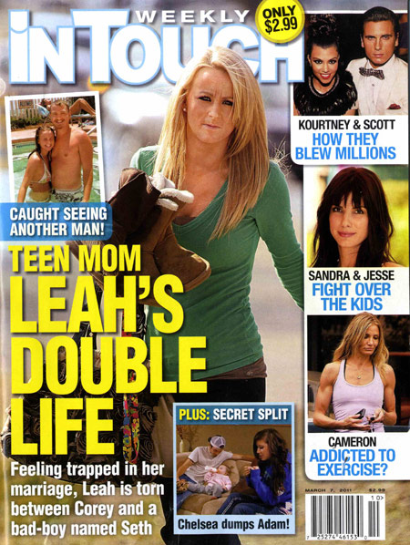 In Touch Weekly March 7 2011 cover with Teen Mom 2 Leah Messer Simms