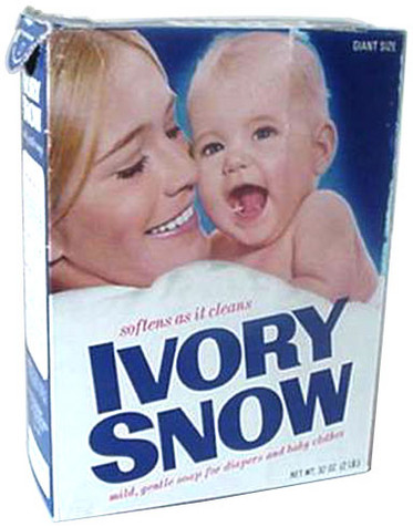 Porn star Marilyn Chambers as the Ivory Snow girl