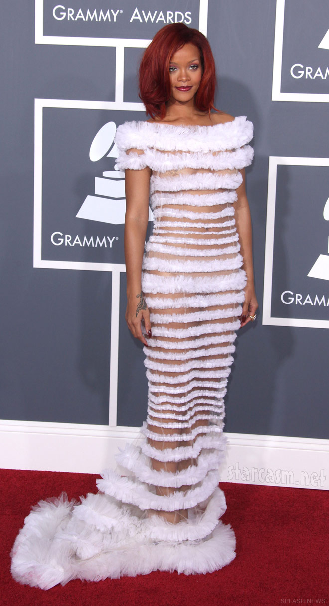 Rihanna at the 2011 53rdAnnual Grammy Awards