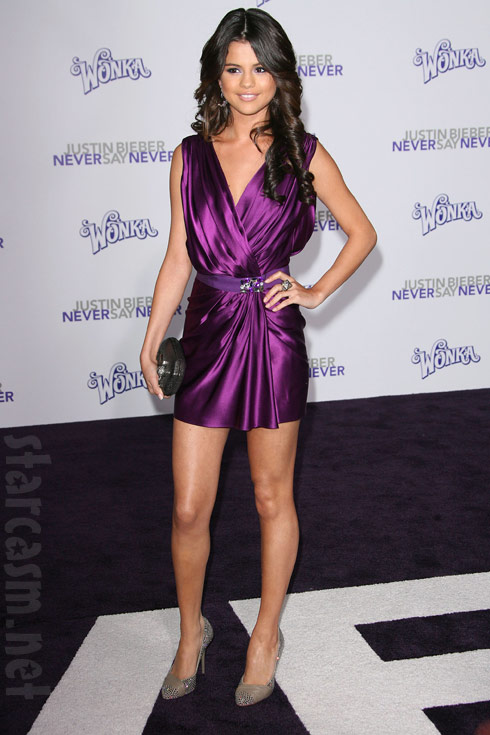 Selena Gomez on the red carpet at the Never Say Never Los Angeles Premiere