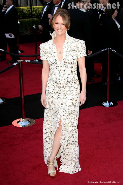 Oscar nominee Melissa Leo dress foil