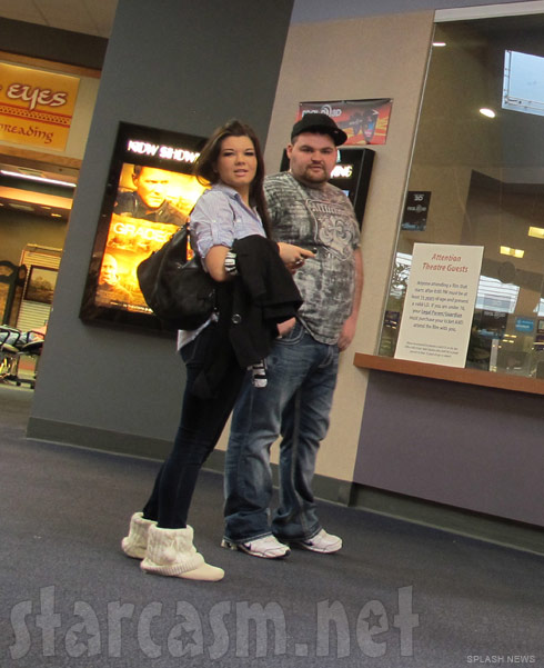 Teen Mom Amber Portwood and Gary Shirley attend the movie The King's Speech