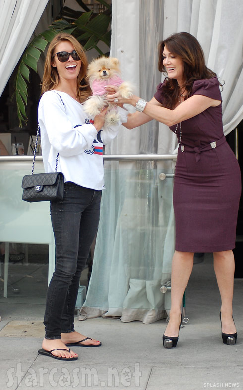 Audrina Patridge Giggy the Pom and Lisa Vanderpump at Villa Blanca