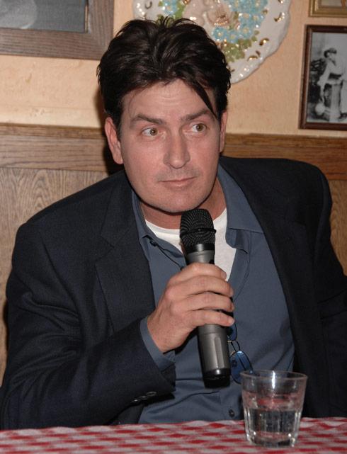 Charlie Sheen microphone