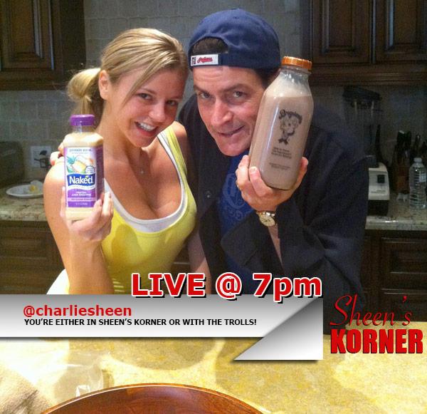 Sheen's Korner starring Charlie Sheen and airing on UStream