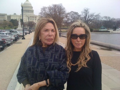 Miami Housewife star Elsa Patton and daughter Marysol in Washington D.C.